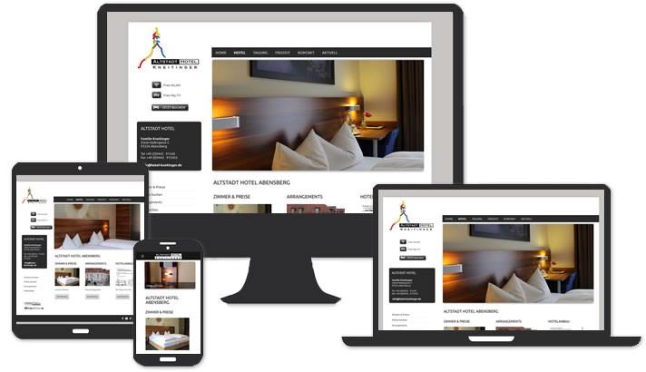 Webseite für Altstadt Hotel Abensberg