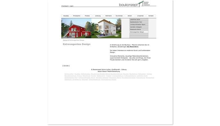 Homepagerstellung Bauträger Coburg
