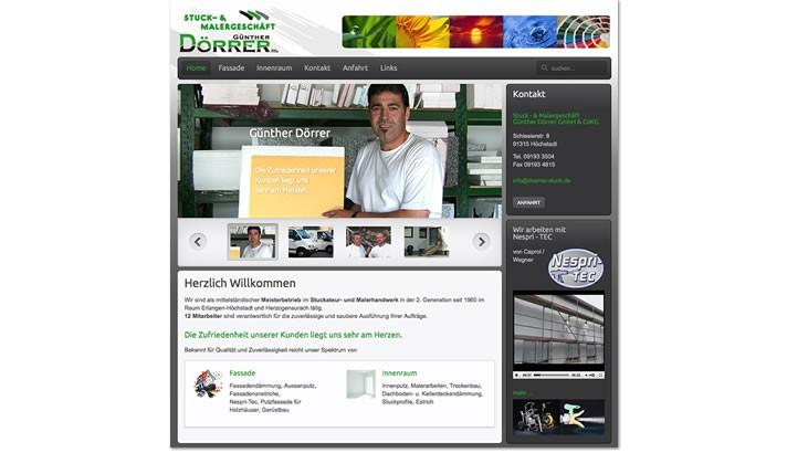 Webdesign Stuckateur -und Malergeschäft Höchstadt