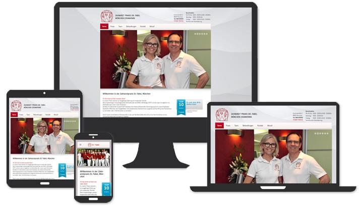 Website für Zahnarztpraxis München