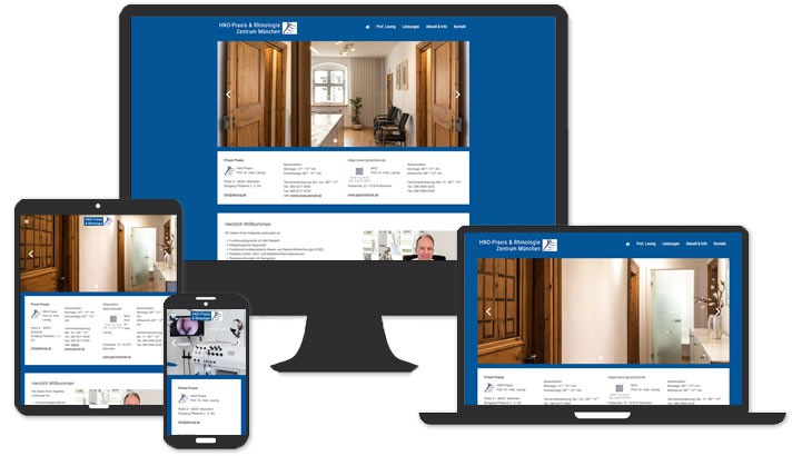 Webseite für Prof. Leunig HNO München