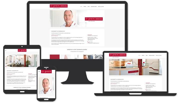 Website für Zahnarztpraxis Rosenheim