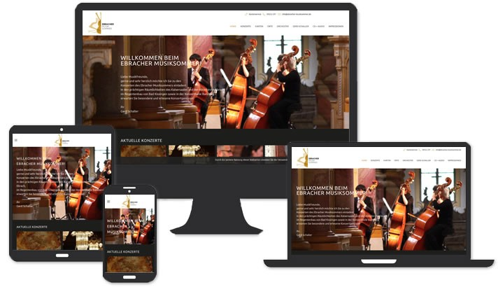 Webseite für Klassik Konzerte, Ebrach