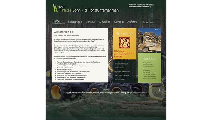 Webseite für Lohn- & Forstunternehmer  Höchstadt