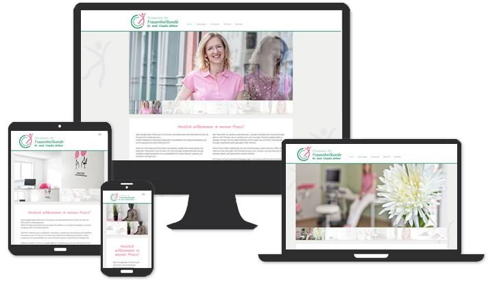 Homepage für Privatpraxis für Frauenheilkunde, Spaichingen