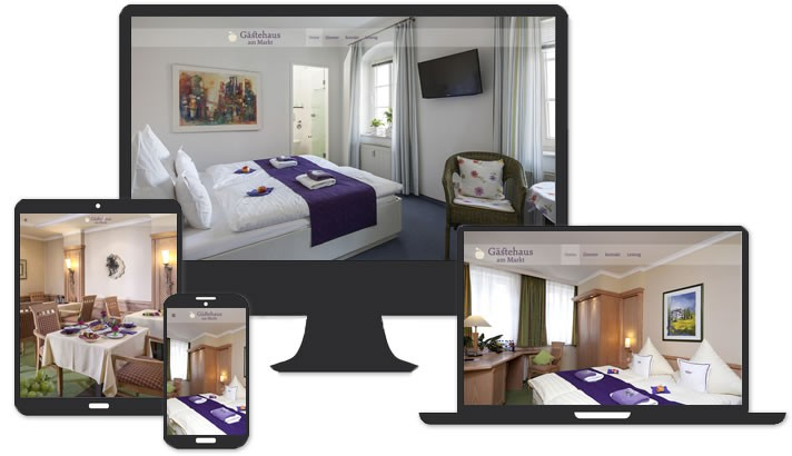 Webseite für Gästehaus am Markt, Leisnig