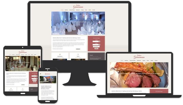 Webseite für Gasthaus Berneburg - Sontra