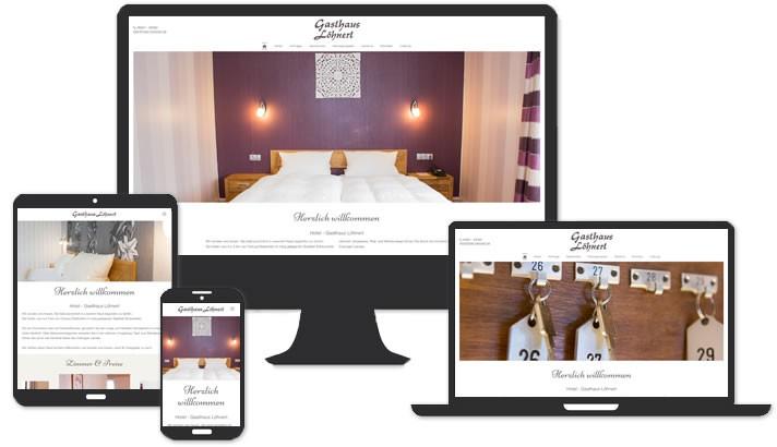 Webseite für Gasthof Löhnert Coburg
