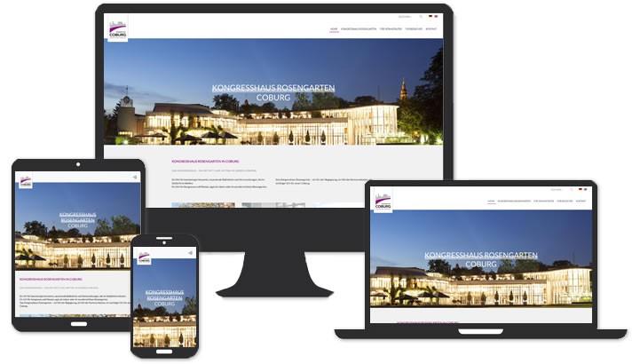 Webseite für Kongresshaus Rosengarten, Coburg