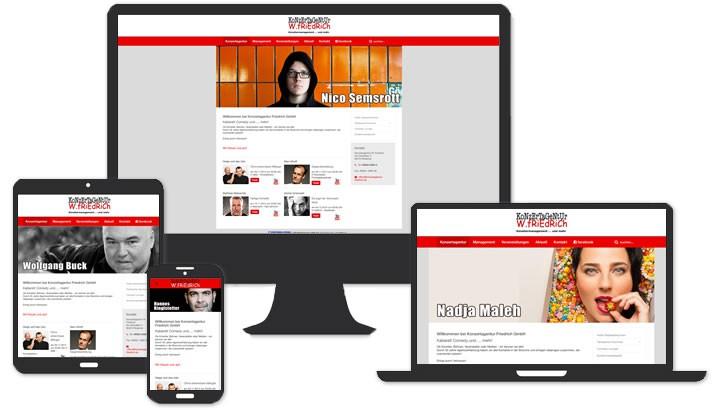 Website für Konzertagentur Rödental