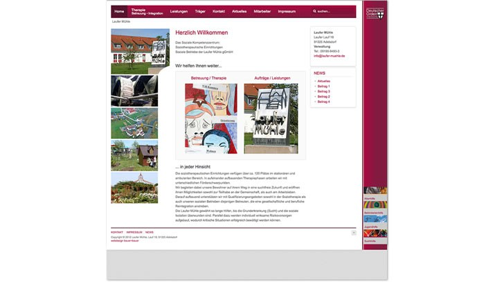 Webseite für Soziale Betriebe, Adelsdorf - Höchstadt
