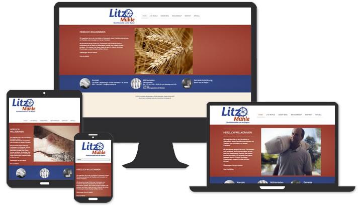 Webseite für Litz Mühle, Gremsdorf