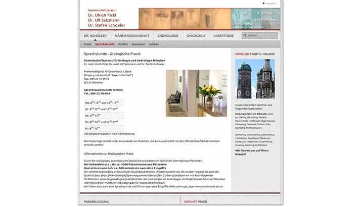 Website für Ärzte Homepage - Praxis Männerheilkunde, Männerarzt