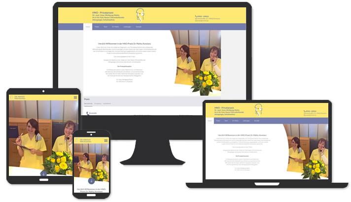 Webdesign HNO Arzt Konstanz