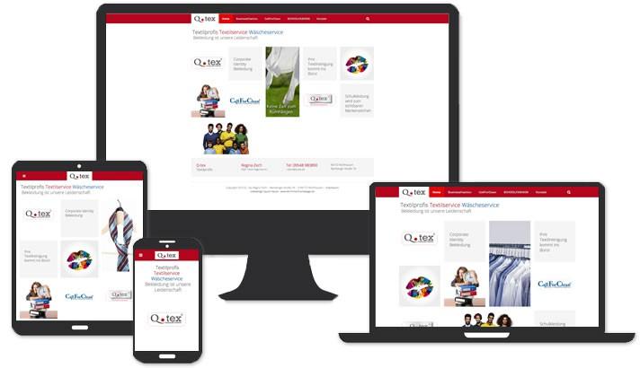 Webseite für Textil- und Wäscheservice, Mühlhausen
