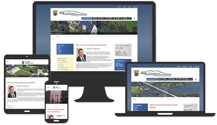 Webseite für die Stadt Rödental