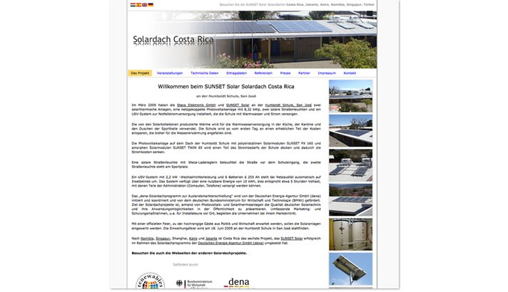 Homepage Solardach Projekte
