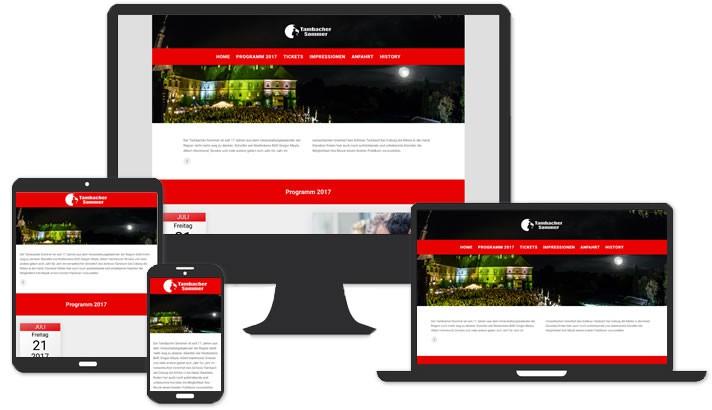 Website für Tambacher Sommer