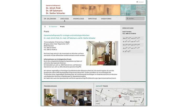 Website für Arzt Praxis Andrologie München