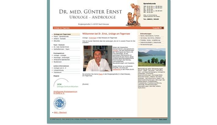 Website Urologe, Bad Wiessee - Tegernsee