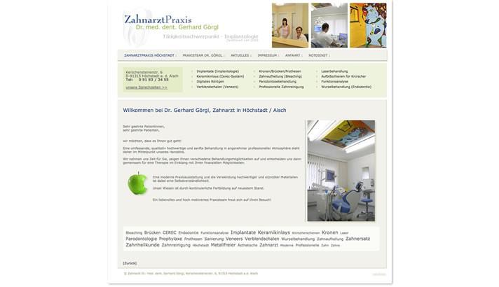 Zahnarzt Homepage in Höchstadt
