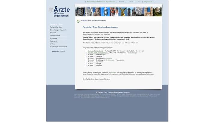 Homepage Erstellung für Ärzte München Bogenhausen