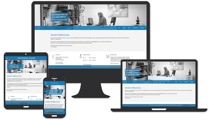 Website für Hausarzt Praxis Juliane Göhre, Schifferstadt