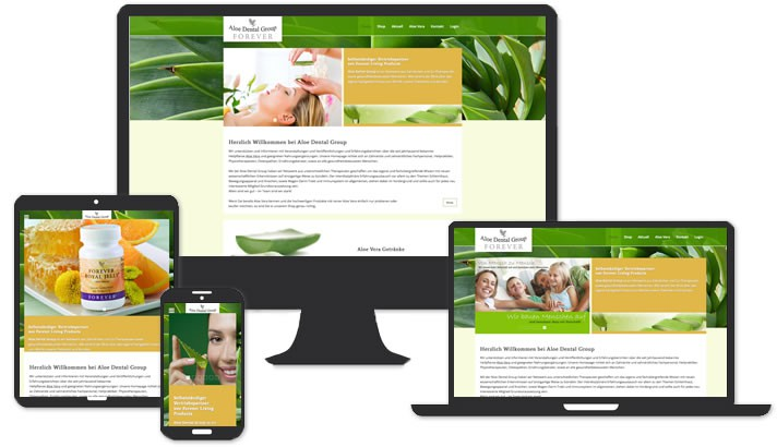 Website für Aloe Dental Group München