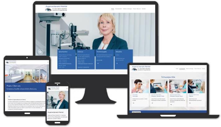 Webseite für Augenheilkunde Dr. med. Sabine Zabolitzky, Maintal