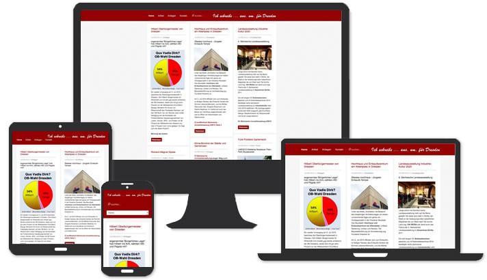 Webseite für Journalist in Dresden