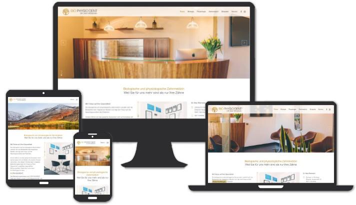 Webseite für Biologische und physiologische Zahnmedizin, Nürnberg