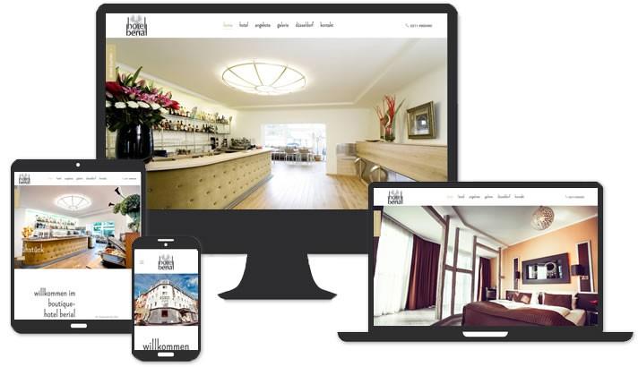 Webseite für Boutique Hotel Duesseldorf