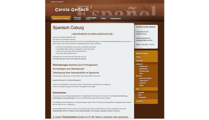 Homepageerstellung Sprachkurse Coburg