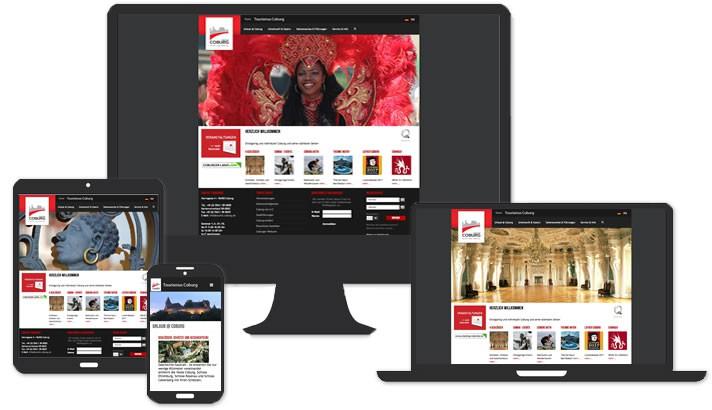 Webseite für Tourismus Coburg