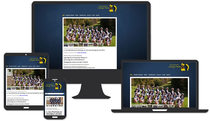 Website Tanzsportgarde Coburg