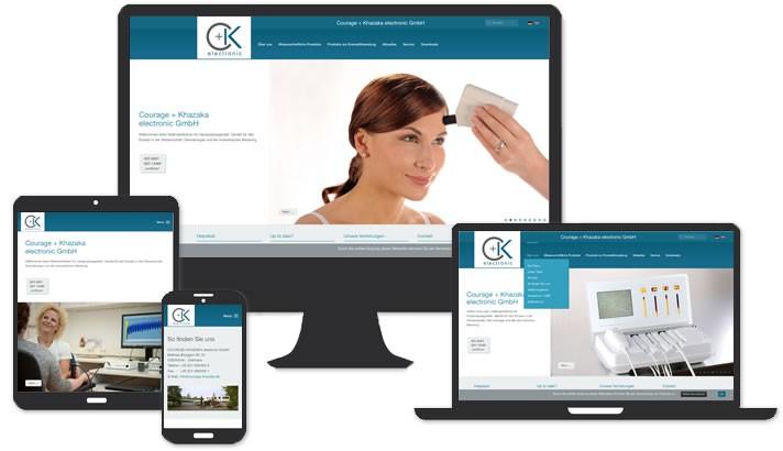 Website für Firma im Electronic Bereich