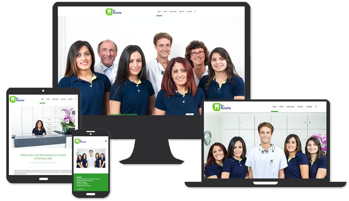Homepage für Zahnarzt Nürnberg