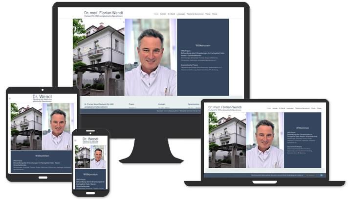 Website für HNO Arzt Praxis München