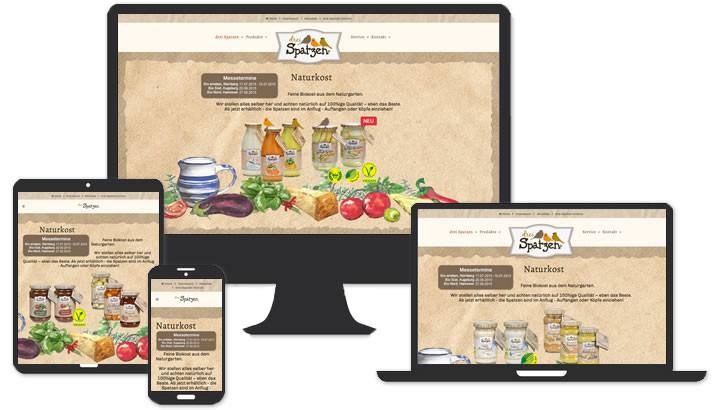 Webdesign für Biokost - Naturkost, Adelsdorf