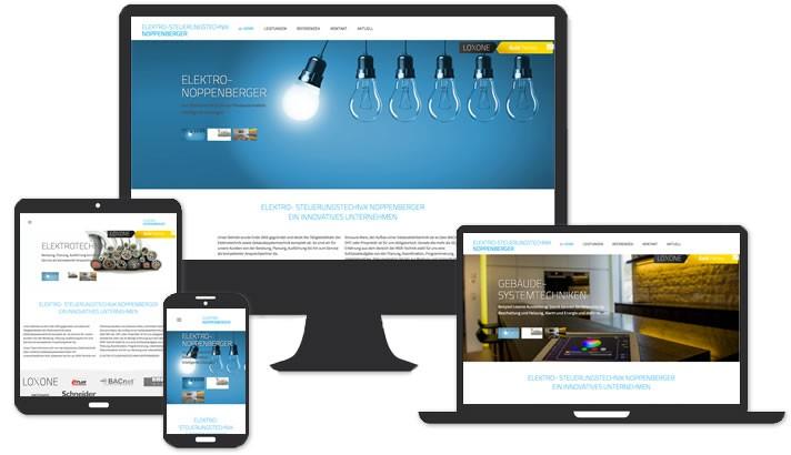 Webseite für Elektro- u. Steurungstechnik Höchstadt