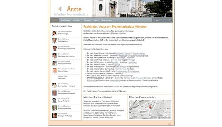 Homepage Erstellung für Fachärzte in München
