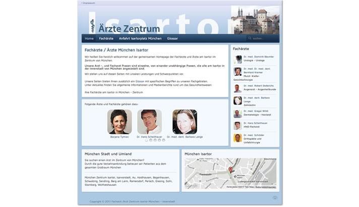 Webseite für Ärzte Zentrum München Isartor