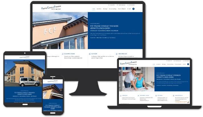 Webseite für FCF Finanz-Consult-Franken Vermittlungs-GmbH, Höchstadt a. d. Aisch