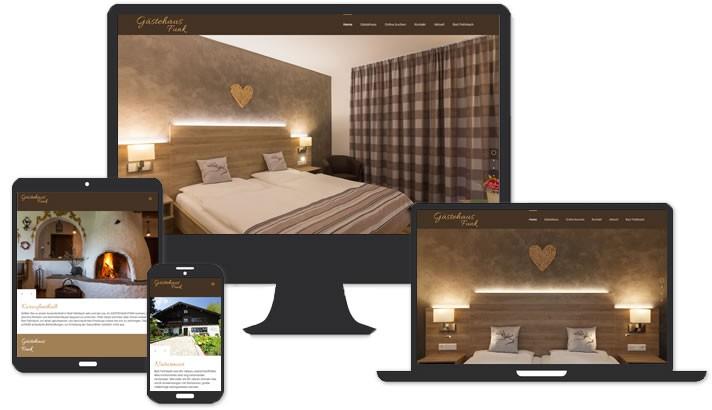 Webseite für Gästehaus Funk Bad Feilnbach