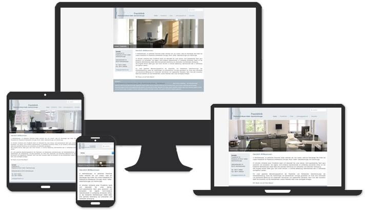 Webseite für Praxisklinik Wolfratshausen