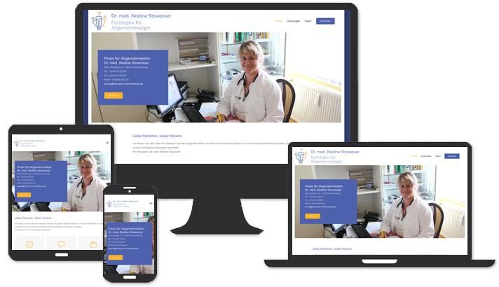 Webseite für Hausärztin / Allgemeinärztin Eckartsberga