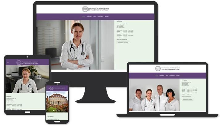 Website für Internistische Hausarzt Praxis Nürnberg