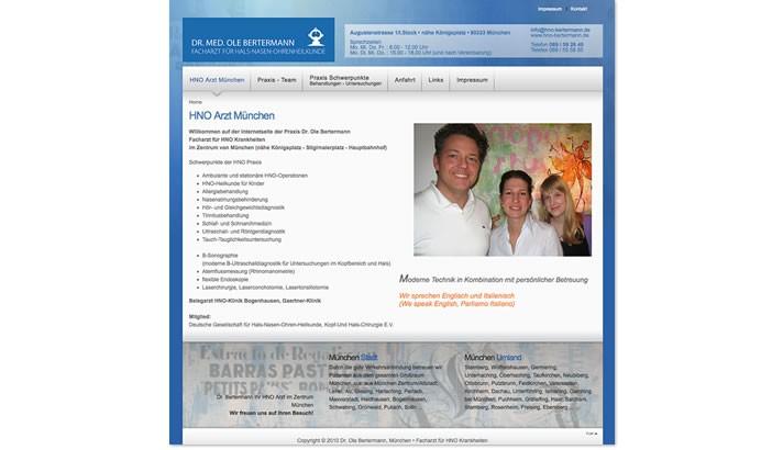 Website Erstellung für HNO Arzt München