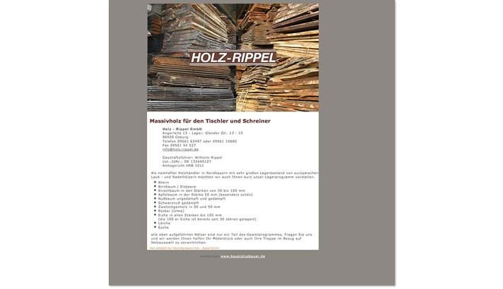 Webvisitenkarte Holzhandel Coburg