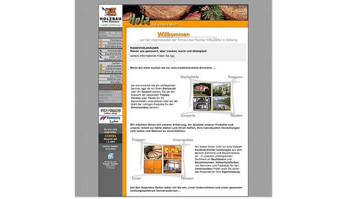Webseite für Holzbau Coburg
